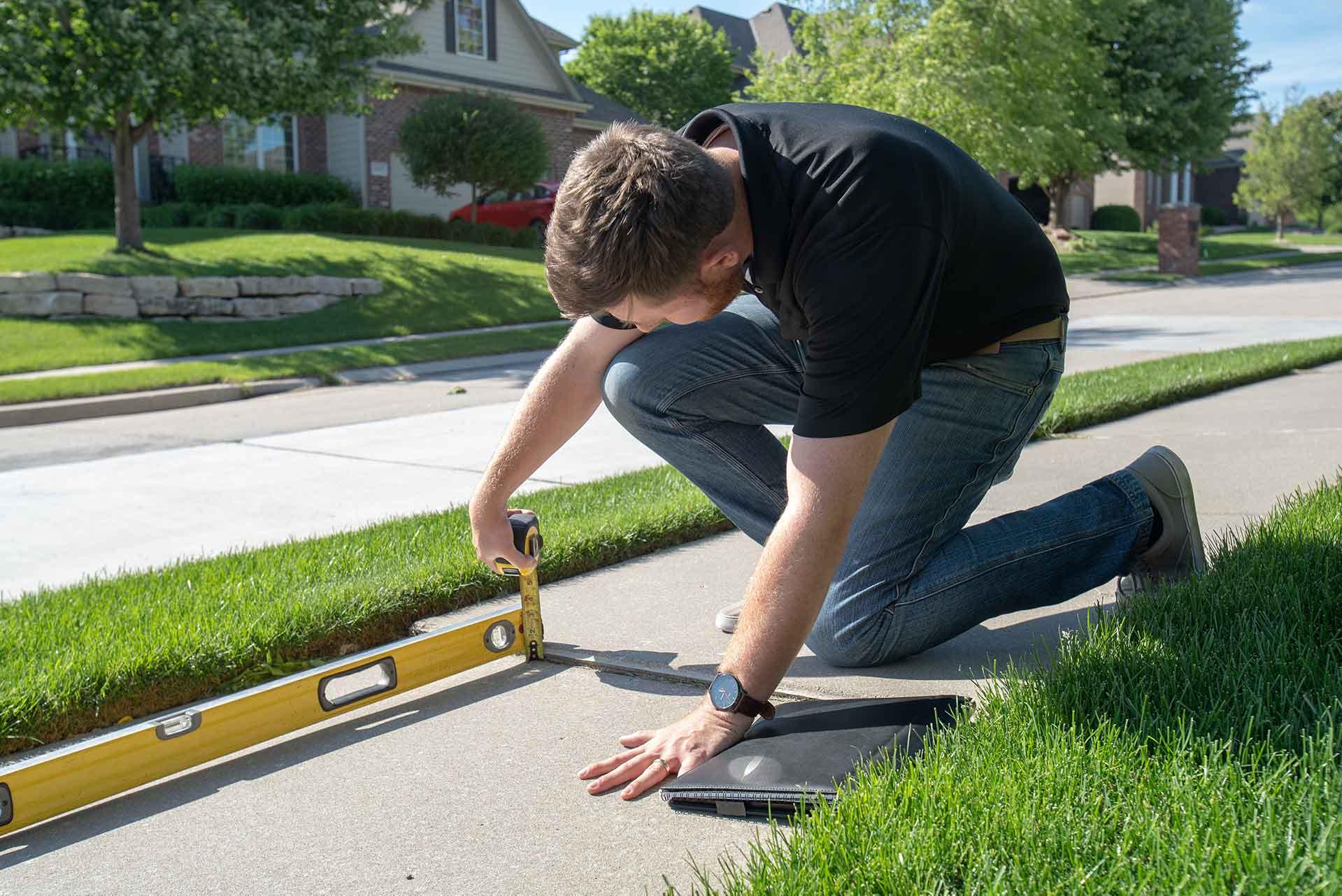 Leveling Concrete - Measure