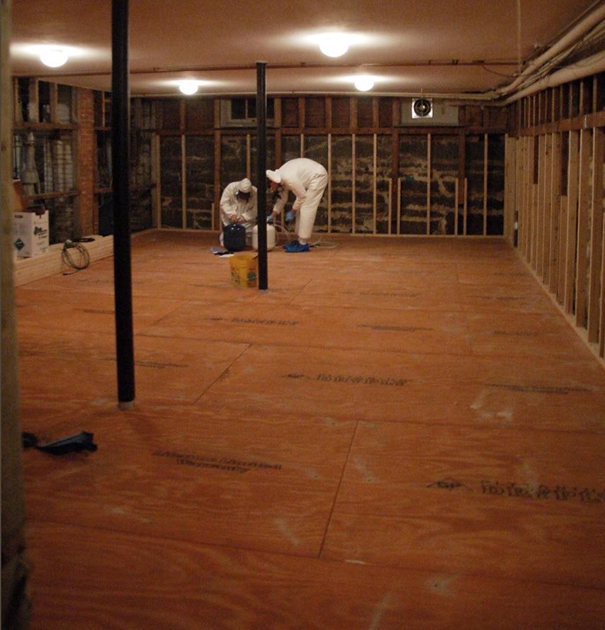 MDH Foundation Repair - Workers in basement