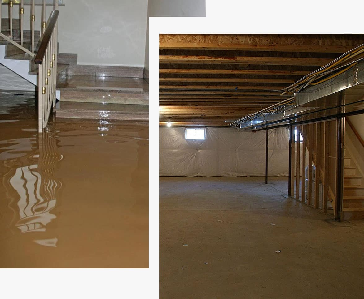 MDH Foundation Repair Basement Waterproofing Before & After