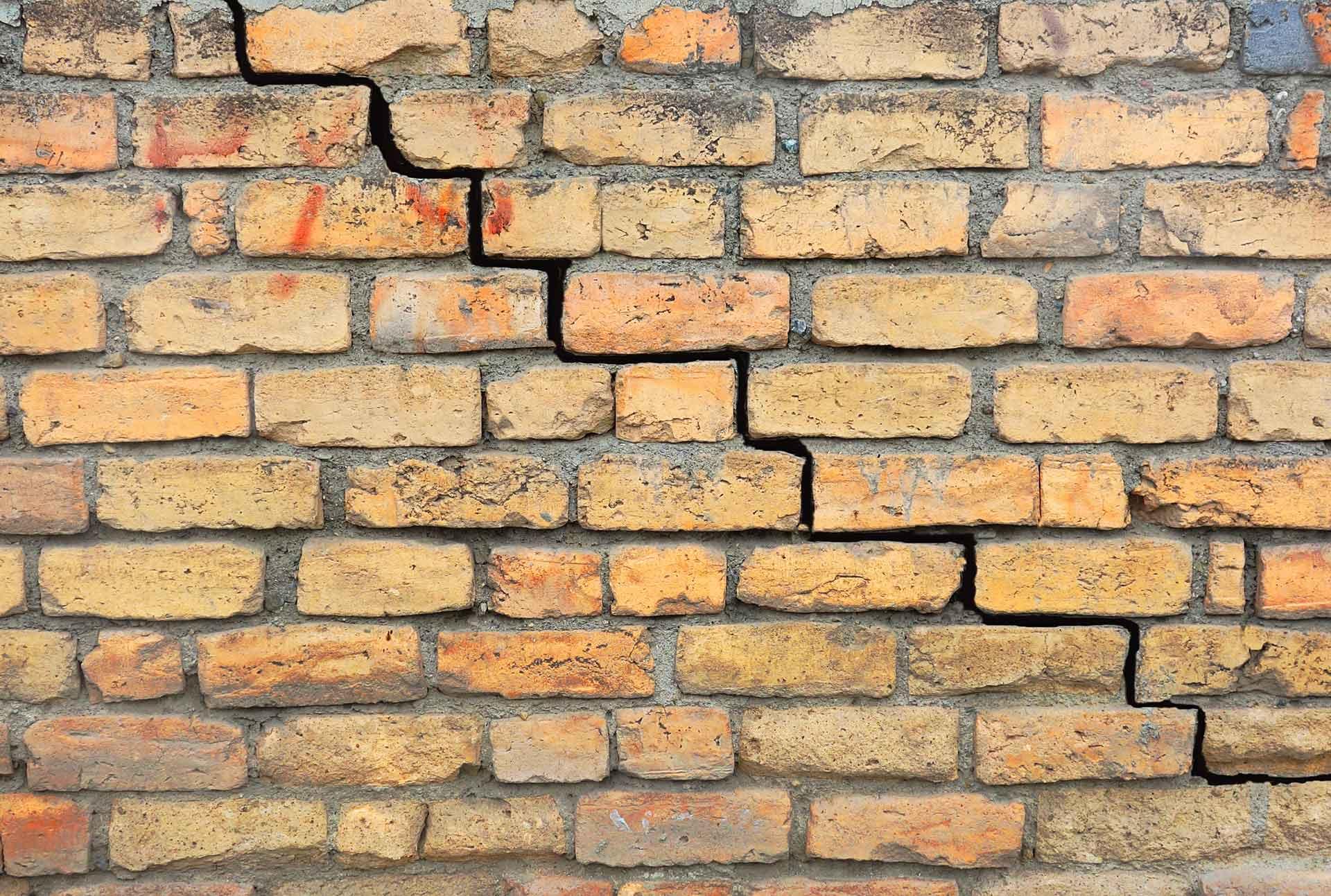 Cracked Exterior Brick